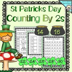 FREE- St Patrick's Day - Skip Counting in 2'sThis is a fabulous set of 8 worksheets to support students when learning to count in twos, up to 100. Would also be great when studying even numbers.Details of worksheets listed below.Skip count in two's to 20 fill in the gapsSkip count in two's to 100 x 2 Skip count in two's continue the pattern - horse shoe themeSkip count in two's continue the pattern - toadstool themeTwo more - cut and paste - toadstool themeTwo more - cut and paste - pot of…