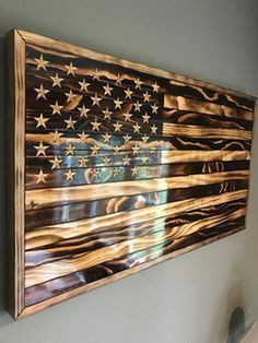 brilliant ideas for your room wall with rustic wood flag
