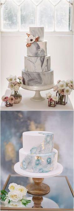 Marble wedding cake ideas #weddings #weddingcakes #cakes ❤️ http://www.deerpearlflowers.com/wedding-cake-trends/