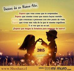 """❥•♪♫¸¸.☆☆`""""•.¸ YA VIENE UN NUEVO AÑO. Faltan algunos días para que llegue el nuevo año, pero quiero saludarte para que tu espíritu se llene de cosas positivas y esperes el año nuevo con mucha esperanza y amor en tu corazón. Una bella postal para ti: http://www.shoshan.cl/faltan_pocos_dias.html"""