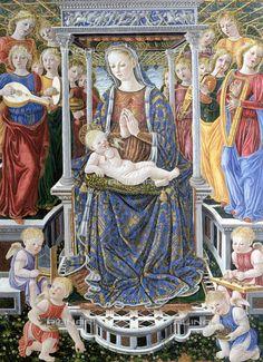 """Giovanni Boccati da Camerino, """"Madonna dell' Orchestra"""", col Bambino e Angeli musicanti, Galleria Nazionale dell'Umbria, Perugia"""