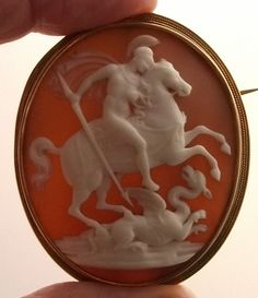 RP: Antique Cameo- Saint George Slaying the Dragon  | antiquecameos.net