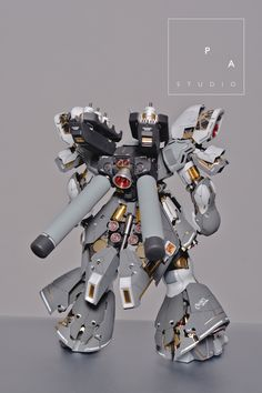 """gundamexousia:  Title: Sazabi """"der Schnee + Quad Gatling Gun"""" Modification   Modeler: PA StudioModel   Type: Metal parts, custom panel line, custom color scheme, detailingKits Used: MG 1/100 Sazabi ver. KaAbout the Kit:""""I am totally inspired by ihaveyen's Snow Sazabi. So, i decided to make my own version based on his sazabi. I added some custom panel line to enhance the complex look of sazabi ver. ka. I did some color separation too for the armor and frame""""   Like this kit? Get it at…"""
