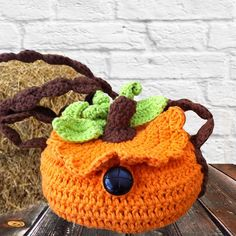 This adorable crocheted Pumpkin Purse is a great accessory for any little girl!  It would also add a touch of uniqueness to any photography session.   Ready to Ship