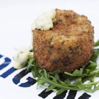 Our tasty Salmon & Spring Onion Fish Cakes with Tartar Sauce