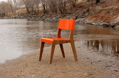 Lock chair, made on the banks of the South Platte river.