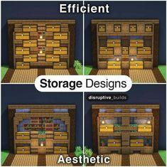 Minecraft Storage, Minecraft House Plans, Minecraft House Tutorials, Cute Minecraft Houses, Minecraft Room, Minecraft House Designs, Amazing Minecraft, Minecraft Tutorial, Minecraft Blueprints