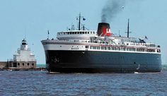 SS Badger docking in Manitowoc, Wisconsin