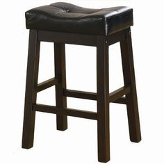 "Sofie 24""H Barstool in Dark Brown Finish (Set of 2) by Coaster Furniture by Coaster Home Furnishings. $137.98. Dining Room Furniture. Brown Barstool. 24 Inch Barstools. Padded Barstool. Cherry Bar Stool. 120519 Features: -Duncan 24'' Backless Barstool.-Casual style.-Armless design for contemporary appeal.-Black ultra plush seat that resembles the high end look of leather. Color/Finish: -Warm Brown Cherry finish. Dimensions: -Dimensions: 25.25'' H x 16'' W x 11'' D."