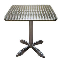 This American Tables and Seating square aluminum table is a fantastic way… Welding Table Diy, Metal Welding, Booth Table, Stools For Kitchen Island, Kitchen Mats, Kitchen Shelves, Pallet Seating, Restaurant Seating, Restaurant Ideas