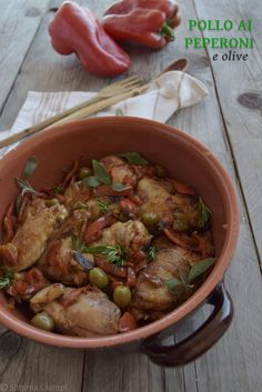 Kung Pao Chicken, Meat Recipes, Italian Recipes, Poultry, Food And Drink, Olive, Ethnic Recipes, Rabbit, Dinners