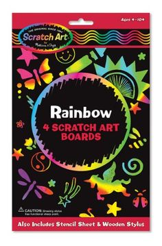 Melissa & Doug Rainbow Scratch Art Boards Scratch Art http://smile.amazon.com/dp/B0000BUSP9/ref=cm_sw_r_pi_dp_-RgAwb01P2H6M