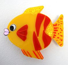 NancyBonig.com - Fish Clay Crafts, Diy And Crafts, Paper Crafts, Fused Glass, Stained Glass, Glass Fusing Projects, Glass Aquarium, Bee Creative, Clay Design