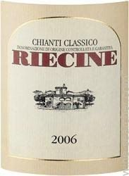 2010 Riecine Chianti Classico DOCG, Tuscany, Italy  93 pts., 14 pounds
