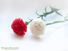 Carnation Polymer Clay Flowers by SaisonRomantique on Etsy