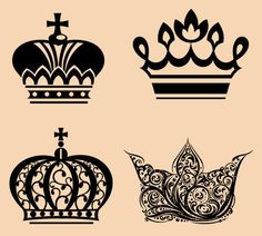 Crown tattoo designs collage