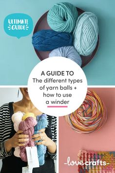 Is it a hank or a skein? A yarn ball or a yarn cake? Here we tell you all there is to know about the different types of yarn balls as well as how to wind a ball of yarn with a yarn winder yourself! Different Stitches, Different Types, Yarn Winder, Yarn Cake, Learn How To Knit, Types Of Yarn, Something Beautiful, Being Used, Crochet Hats