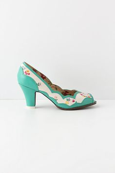 Oh, my word. These Home Sweet Home Peep-Toes from Anthropologie could be a definite possibility if they weren't $148. haha