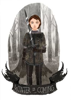 Arya Stark. Lovely Illustrations That Pay Tribute To The Ladies Of 'Game Of Thrones' - DesignTAXI.com