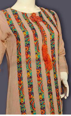idea.. Salwar Neck Designs, Kurta Neck Design, Kurta Designs Women, Dress Neck Designs, Blouse Designs, Pakistani Fashion Casual, Pakistani Dresses Casual, Pakistani Dress Design, Kurti Sleeves Design