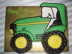 Tractor birthday cake!