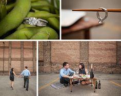Sushi-Inspired Engagement Session by BellowBlue on BorrowedandBleu.com