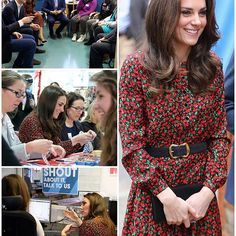 The Duchess today at The Mix - a charity that provides essential support for those under 25 and aligns itself well with the Royal Trio's Heads Together initiative, aimed at raising awareness about mental health. It is one of the eight charities involved in the royal campaign and focuses of helping young people through tough times. William and Harry met with counsellors and volunteers who trained them up on dealing with a range of issues such as homelessness and people with suicidal…