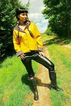 clu rubberboots and waders Wellies Rain Boots, Vinyl Clothing, Rainy Day Fashion, Mens Raincoat, Yellow Raincoat, Shiny Leggings, Fetish Fashion, Rain Wear, Hunter Boots