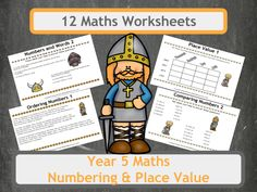 Viking Themed Numbering and Place Value Worksheets for Year 5 Classes