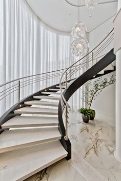 Ideas concrete tile stairs for 2019 Luxury Homes Interior, Luxury Decor, Home Interior Design, Interior And Exterior, Home Stairs Design, Interior Stairs, House Design, Escalier Art, Escalier Design