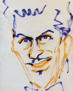 いいね!36件、コメント1件 ― @1mindrawのInstagramアカウント: 「#chuckberry #チャックベリー #musician #ミュージシャン #guitarist #ギタリスト #19261018 #1mindraw #一分描画 #birthday…」