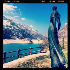 The Lady of The Lake at the Tignes Dam between Tignes and Val d'Isere in the French Alps