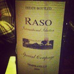 2009 Raso #Tempranillo #wine at 8th Street Wine Cellar - Greenwich Village, NYC