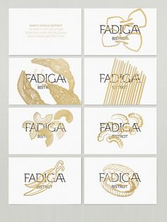 Fadiga Bistrot by manuel dall'olio, via Behance