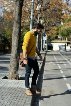 Wearing Jeans To Work: 28 Casual Professional Ways To Style Your Denim For Men Business Casual Attire For Men, Trajes Business Casual, Men Casual, Casual Male Fashion, Mens Casual Work Clothes, Curvy Fashion, Look Street Style, Men With Street Style, Men Street