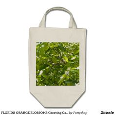 FLORIDA ORANGE BLOSSOMS Grocery Tote Bag
