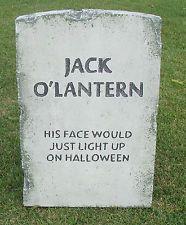 "Halloween 'Jack O'Lantern' tombstone prop graveyard decoration 24""x16""x2"""