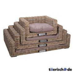 Happy House Hundesofa Rattan