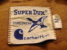 60s Super Dux × Carhartt woven label