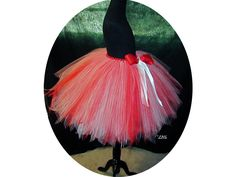 Women's Peppermint and Candy Cane Inspired Tulle Skirt by NayomiInspired on Etsy