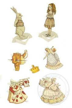 Alice Wonderland Paper Dolls Sherri Dupree Bemis Via Flickr - KameraSeeru.com