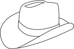 Free Printable Cowboy Coloring Pages For Kids Sketch ... |Small Cowboy Hat Coloring Page