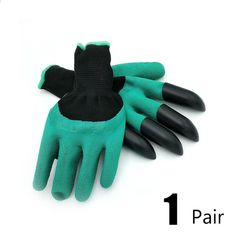 Hot sale Rubber Garden Gloves with 4 ABS Plastic Fingertips Claws for Gardening Raking Digging Planting Latex Work Glove Price: USD Claw Gloves, Garden Rake, The Claw, Rubber Gloves, Latex Gloves, Fishing Accessories, Gardening Gloves, Gardening Books, Work Gloves