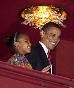 President Barack Obama and Sasha Obama | by Pradagirl