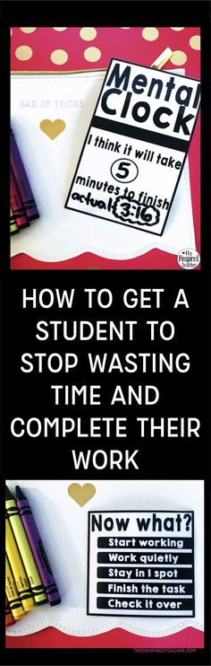 How to Get a Student to Stop Wasting Time And Complete Their Work | By The Pinspired Teacher | Classroom Management | PBIS | Positive Behavior Interventions