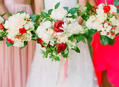 vibrant peony, rose and hydrangea bouquets by Barbara Von Elm, Growing Wild Floral Company