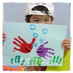 Fishy handprints .... lots of fishy ideas on the page