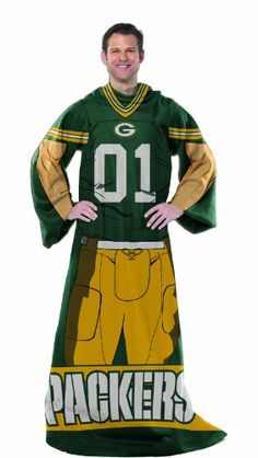 Green Bay Packers Comfy Snuggie Blanket Full Player Design Northwest,.