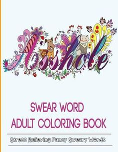 Adult Coloring Books Swear Word By