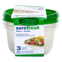 Bulk Sure Fresh Professional Clear Plastic Containers 35 oz at